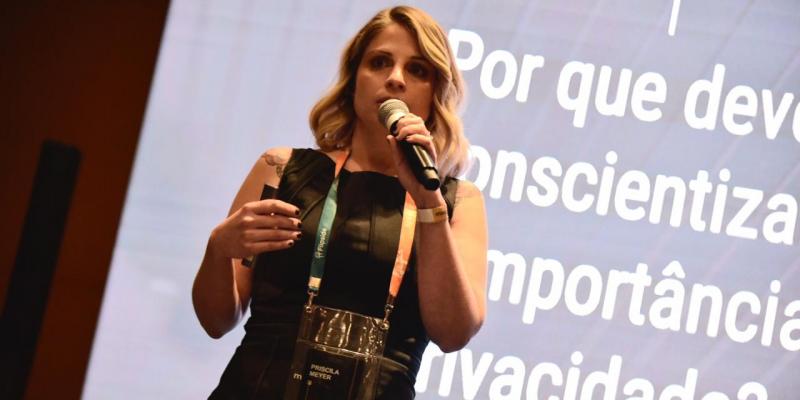 """Priscila Meyer, sócia-fundadora da Flipside e CEO do Eskive: """"Apesar do apoio da alta direção ter aumentado, espera-se uma liderança mais ciente quanto à priorização dos investimentos de treinamento de conscientização de segurança"""""""